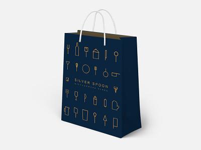 Silver Spoon fresno iconography minimalist icon san diego packaging bag