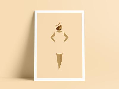 Fade Away Girl poster girl fade away san diego fresno illustration print