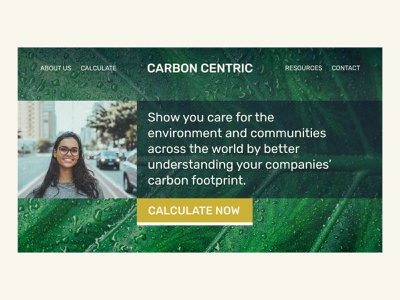CARBON CENTRIC | Day 11 of the Website Design Challenge concept logo website branding ux ui uxui conceptual website concept website design web designer webdesign green economy environment carbon footprint carbon