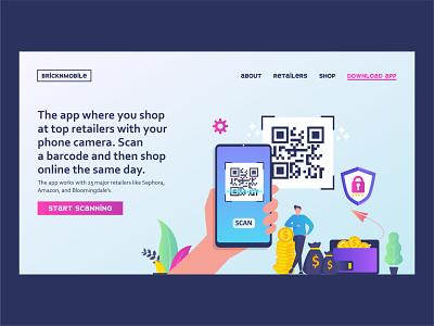 BrickNMobile | Day 17 of the Website Design Challenge app download html css webpage web designer scan mobile app mobile brand identity brand ux web design design ui webdesign uxui concept logo website branding