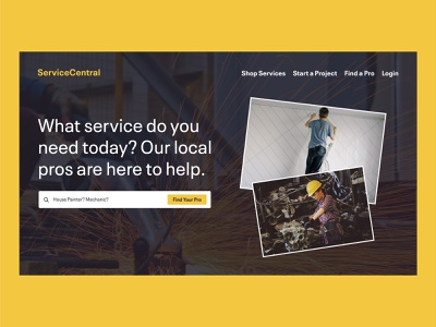 ServiceCentral | Day 21 of the Web Design Challenge logo concept home projects services prospect service hero banner design web designers web designer website design website concept web design webdesign ux ui uxui logo website branding