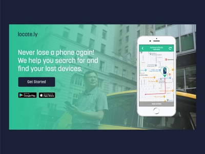 locate.ly | Day 22 of the Web Design Challenge device lost device phone download mobile app identitydesign logo concepts website designer webdesigner website design website concept web design ux ui webdesign logo concept uxui website branding
