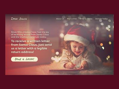 Dear Santa | Day 23 of the Web Design Challenge christmas holidays santa dear santa hero image html css html website designing website designer website design website concept web design ux webdesign ui uxui concept website logo branding