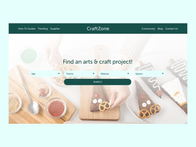 CraftZone | Day 30 of the Web Design Challenge finder search projects arts crafts website designers website designer header hero header hero design website design website concept ux webdesign ui concept uxui logo website branding