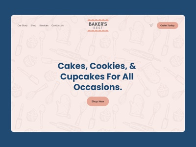 Baker's Best Desserts Website commerce squarespace design squarespace website cakeshop cupcakes desserts cookies cakes bakery webdesigner web designer website design web design squarespace website designer website concept webdesign uxui website branding