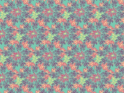 Floral Abstract Repeat Pattern