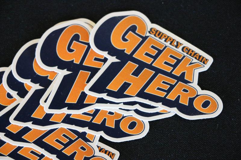 Supply Chain Geek Hero Stickers