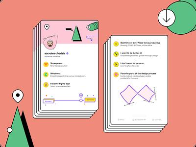 Figma Cards [UI Game] - Remix team ui ux vector illustration portfolio card design digital design athens design cards ui figmadesign figma