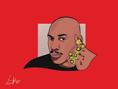 Michael Jordan portrait | Digital drawing cartoon character portrait michael jordan drawing challenge dribbble digital design cartoon design cartoon comic illustration digital painting painting drawing