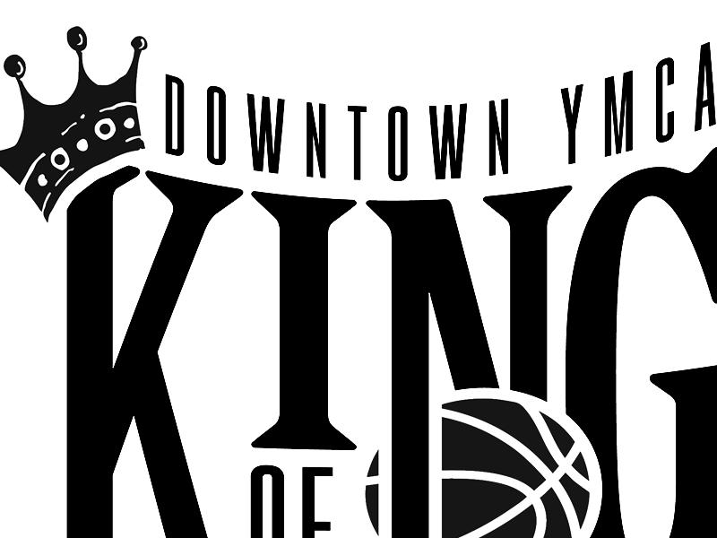 King Of Tacoma T-shirt Design basketball crown king royal tournament ymca tacoma serif