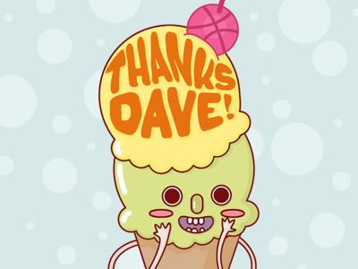 Hi Dribbble! ice cream thank you thanks debut dribbble