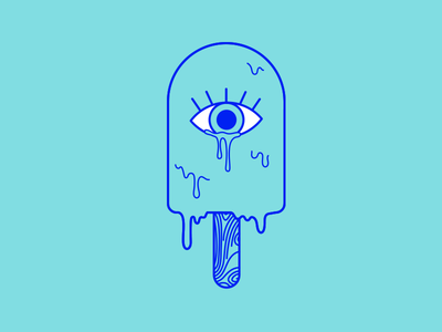 Cruel Summer crying tears sad line eye melt popsicle