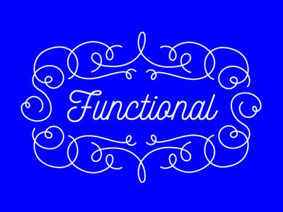 ~*~Functional~*~ flourish filigree script