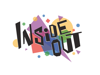 Inside Out Title Treatment hand geometric out inside movie lettering