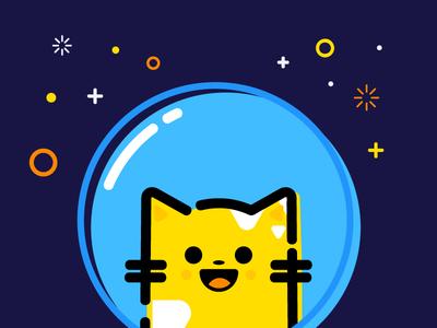 Copy Cat Project: MBE cute space geometric cat