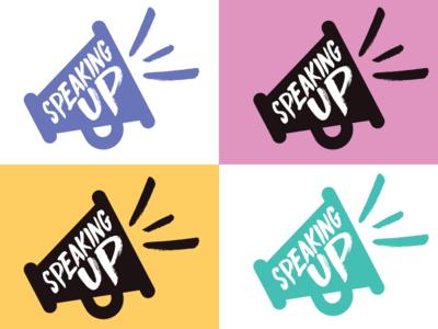 Speaking Up Logo voice megaphone women logo