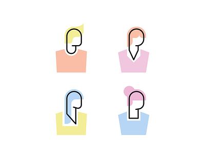 Simple Avatars 😏 minimalist design face abstract minimalism minimalist avatar design avatars icon avatar icons illustration flat design clean avatar