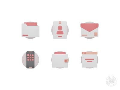 3D Icons Exploration #1 flat clean design 3d blender blender illustrator 3d icon icons logo graphic design 3d