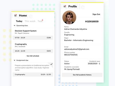 Student Companion App adobexd design app mockup ui userinterface ux mobile mobile app iphone ios