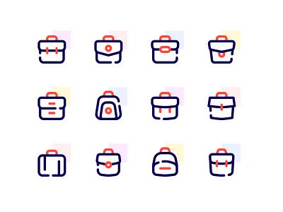 Icons - Bag ver. 2 accent icon basic icon icon style line style work desktop school app web mobile ui clean icons icon school icons line icon iconography icon set icon design