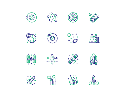 Icons - Space explore travel user interface space space icon flat icon icons icon iconsets lineal icon line style line icon vector design ui clean web iconography iconset