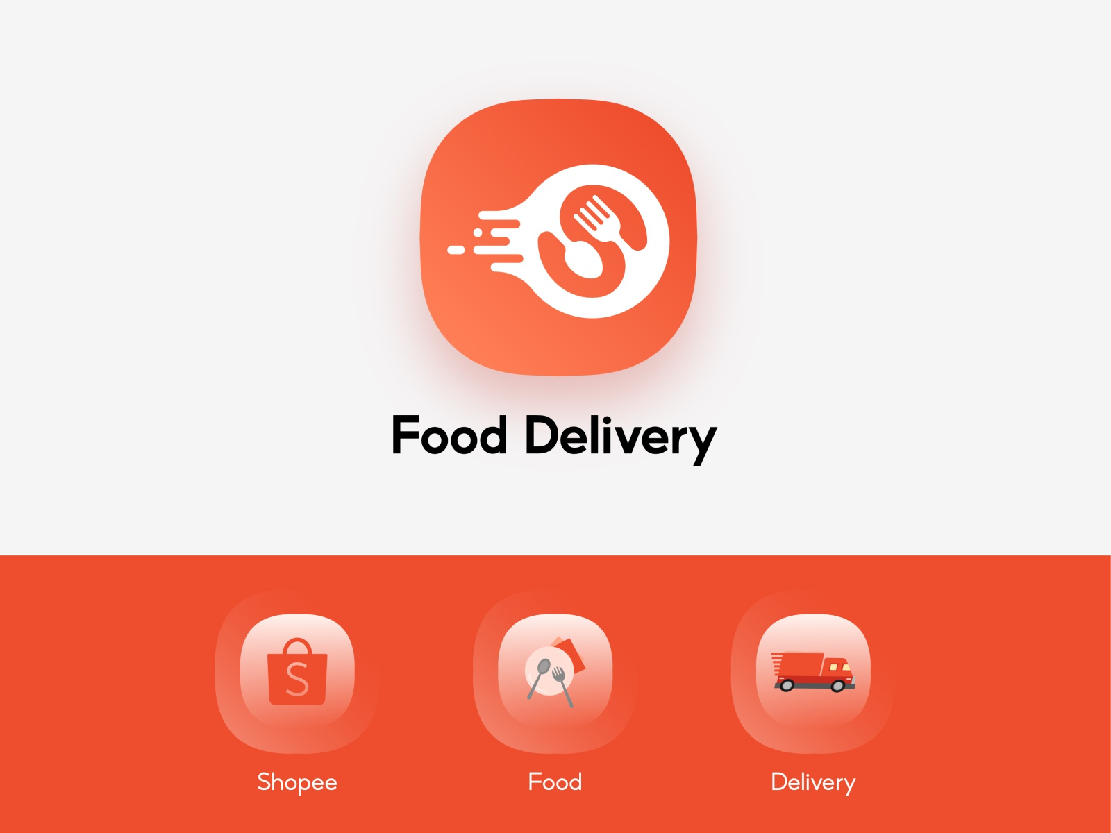 shopee food delivery app icon redesign concept by zihui yang on dribbble food delivery app icon redesign concept