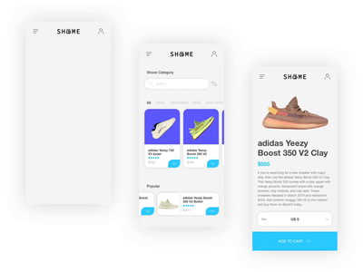 SHo͞oME - Shoes Store App Concept sneakers protopie product design online shopping online shop ecommerce fashion app shoes store shoes mobile app ux ui prototype design demo animation prototype animation sketch dailyui