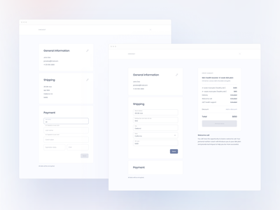 Food Delivery — Checkout (Wireframes) cart delivery application app minimal clean payment shipping checkout wireframes ux ui