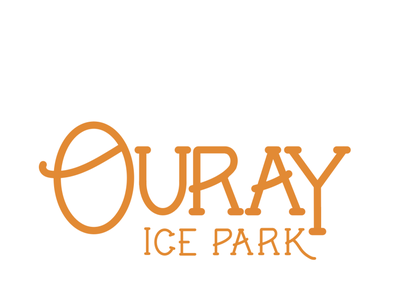 Ouray Ice Park sticker illustration ouray typogaphy