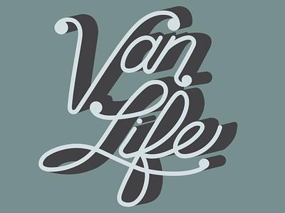 Van Life sticker illustration graphicdesign van life typography