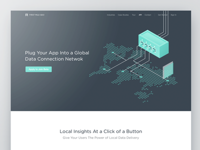Website Homepage for a Business Intelligence SaaS Tool
