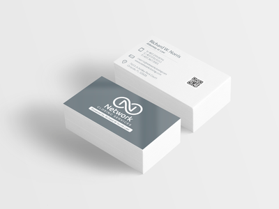 Logo and business card mock up for client.