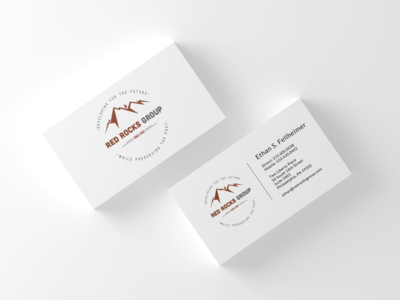 Logo and business card layout design