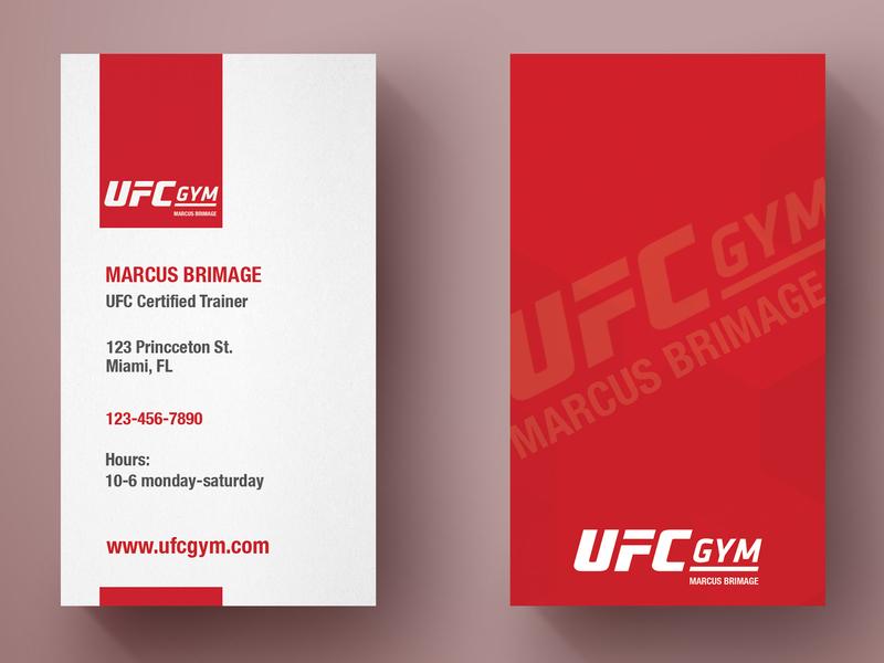 UFC Gym Business Card Design by Jack Schlifer on Dribbble