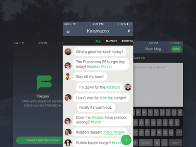 Chat App Concept concept interface mobile iphone messages chat app ui ux