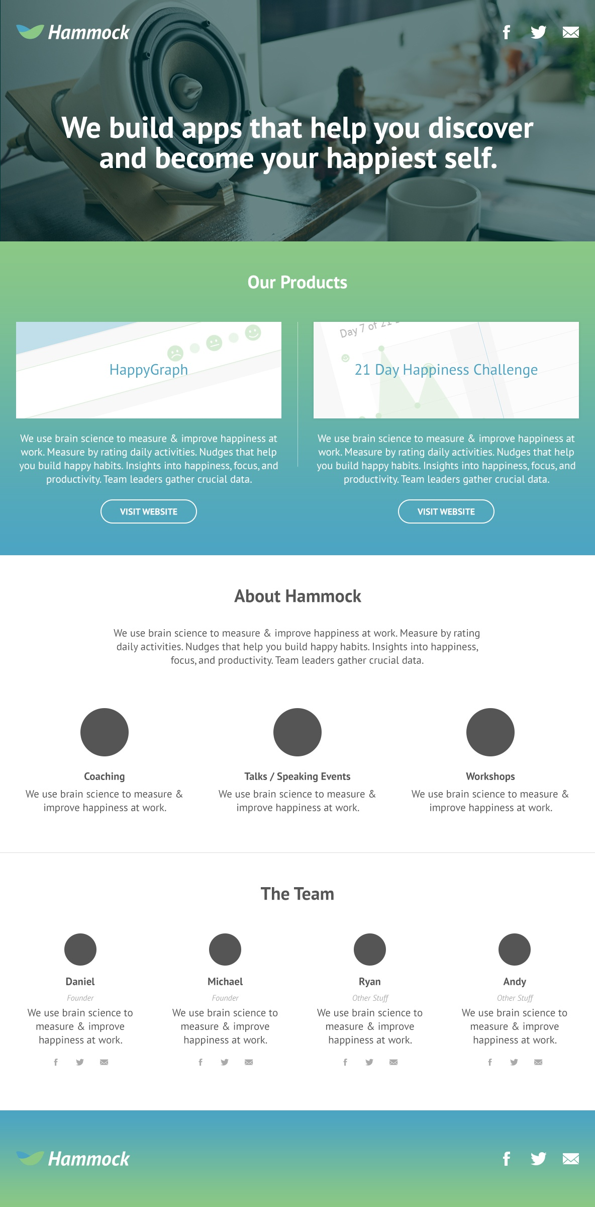 Hammock labs landing page