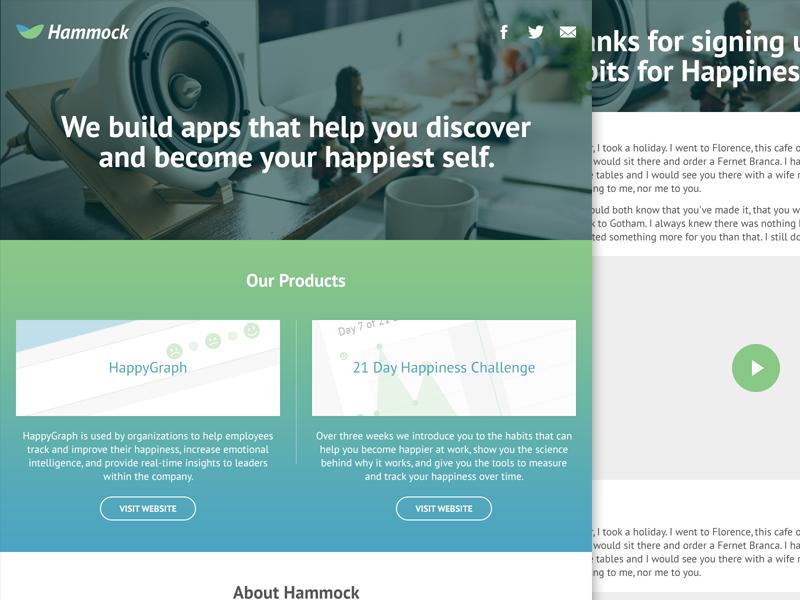 Hammock Labs Site buttons gradient responsive mobile web site ui ux web