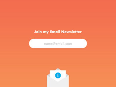 Join My Email Newsletter icon form ia mailchimp newsletter ui ux email