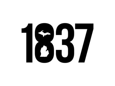 1837 Michigan t shirt design michigan design graphic design logo michigan 1837