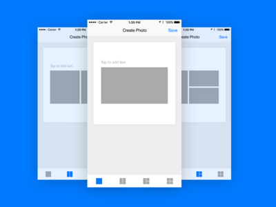 Photo Grid App Concept instagram iphone app mobile interface ui ux wireframe