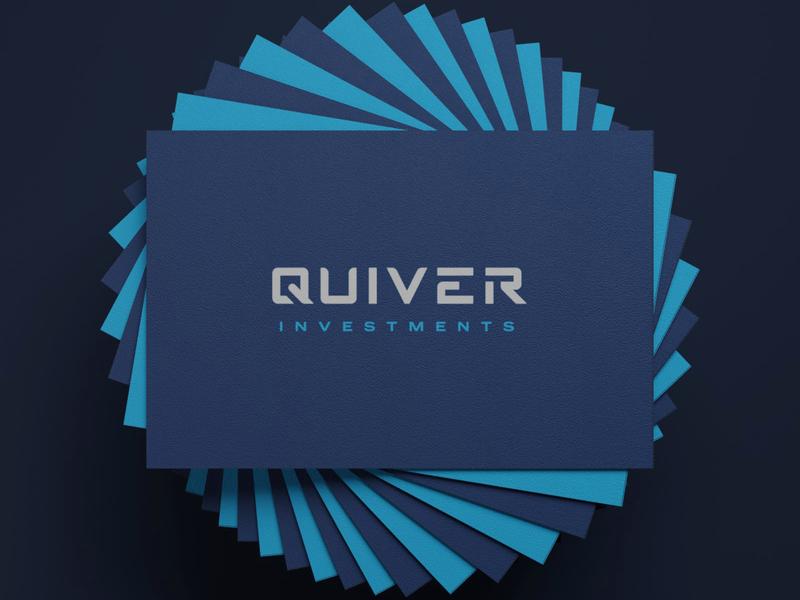 Quiver Branding typography logo branding design branding collateral