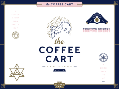 The Coffee Cart branding iconography brand hands icon brand and identity espresso monkey illustration catering coffee identity logo branding