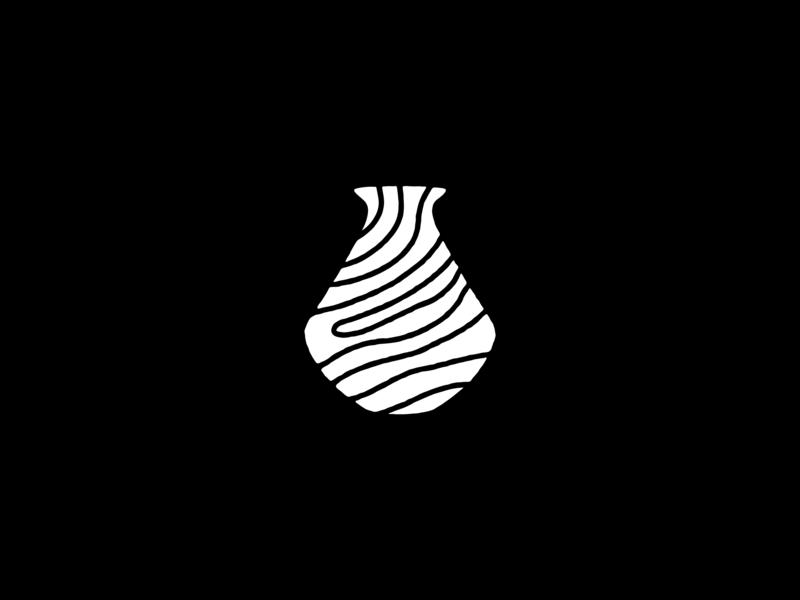 Ansuya Pot illustration vector icon design fingerprint land pottery identity branding logomark graphic pot logo icon