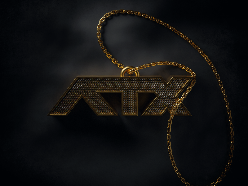 ATX Chain gold necklace jewelry diamond diamonds austin designer render illustration 3d illustration 3d chain atx texas austin