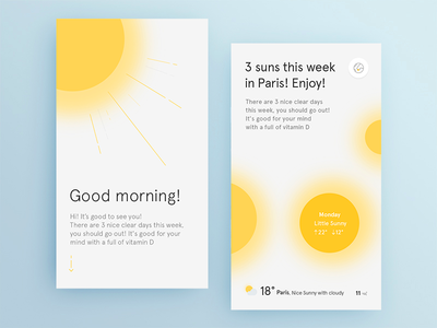 Sunlight context ux ui mobile weather app sun