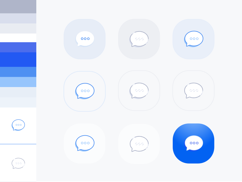 Ico ico ico clean research moodboard board colors icons