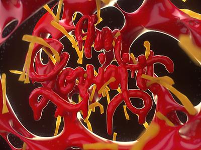 Im Lovin it ketchup french fries fries mcdonalds cinema 4d illustrated type c4d 3d illustration typography design