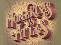 Monarcas vs Atlas Lettering