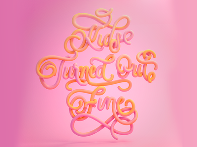 Kids turned out fine cinema 4d c4d animation illustration typography lettering art girly lovely pink candy candy lettering glossy 3d lettering lettering 3d