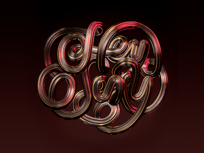 Hey Sexy metal iron 3d design 3d illustration cinema leather sexy lettering 3d c4d vector cinema 4d illustration lettering design typography 3d